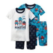 Carter's® 4-pc. Ivory Monster Pajama Set - Baby Boys newborn-24m