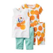 Carter's® 4-pc. Orange You Sleepy Pajama Set - Baby Girls newborn-24m
