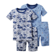 Carter's® 4-pc. White Shark Pajama Set - Baby Boys newborn-24m