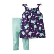 Carter's® 2-pc. Tank Top and Leggings Set - Baby Girls newborn-24m