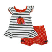 Nanette Ladybug Top and Shorts Set - Toddler Girls 2t-4t