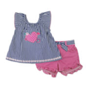 Nanette Top and Shorts Set  - Toddler Girls 2t-4t