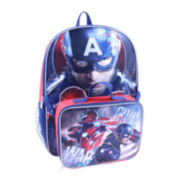 "Marvel® Captain America Civil War Boys' 16"" Backpack with Lunch Box"