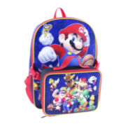 "Nintendo® Super Mario Boys' 16"" Backpack with Lunch Box"