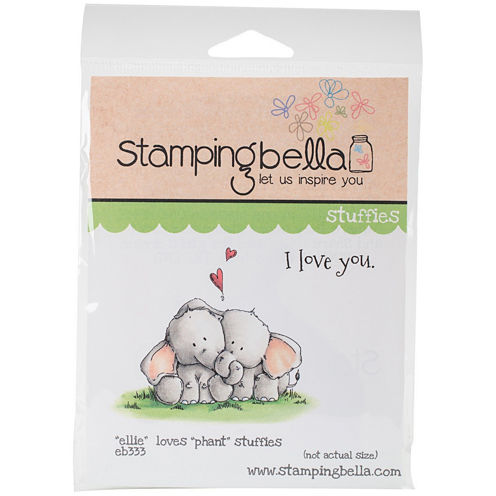 Ellie Loves Phant Stuffies Rubber Stamps