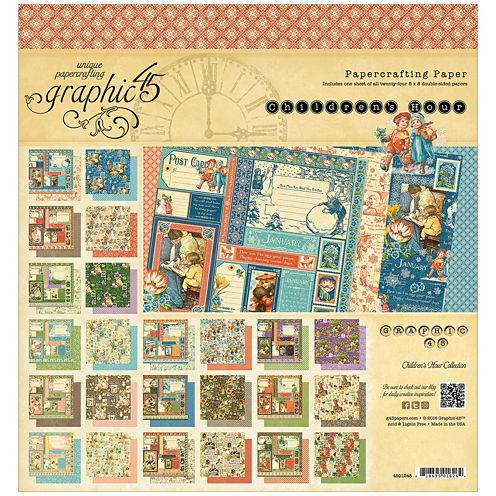 """Children's Hour 2-Sided 8x8"""" Calendar Pad - 24 Sheets"""