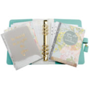 Webster's Pages 2015-2016 Monthly Light Teal Personal Planner Kit