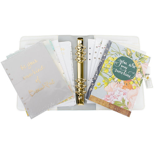 Webster's Pages Personal Planner Kit - Teal Stripe