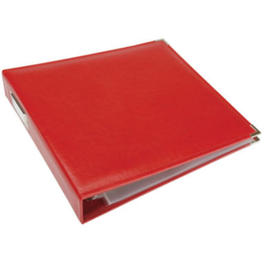 jcpenney.com | 3-Ring Leather Album - Real Red