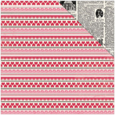 "jcpenney.com | Authentique Paper Lace Heart 2-Sided 12x12"" Cardstock - 18 Sheets"