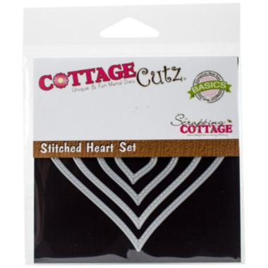 jcpenney.com | CottageCutz 4-pc. Stitched Heart Dies
