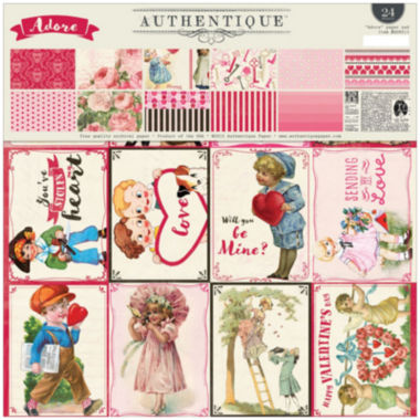 "jcpenney.com | Authentique Paper Adore 2-Sided 12x12"" Cardstock Pad - 24 Sheets"