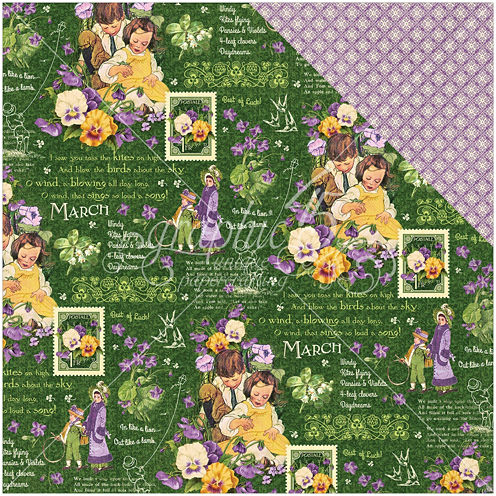 "2-Sided March Month12x12"" Cardstock - 25 Sheets"