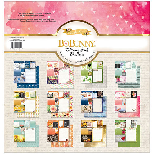 "Calendar Girl 12x12"" Cardstock - 24 Sheets"