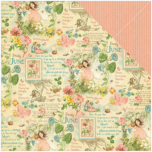 """June 2-Sided 12x12"""" Cardstock - 25 Sheets"""