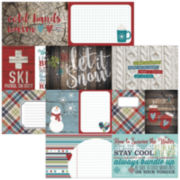 """Snow Patrol 2-Sided 12x12"""" Cardstock - 25 Sheets"""