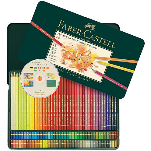 Faber-Castell 120 Polychromos Colored Pencils in Metal Tin Set