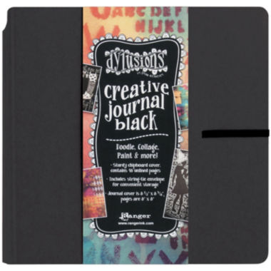 "jcpenney.com | Dyan Reaveley's 8x8"" Black Creative Square Journal"