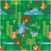 Disney Jungle Book Scenic Cotton Fabric - 15 Yards