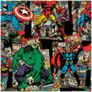 Marvel Comics Vintage Character Toss Cotton Fabric - 15 Yards