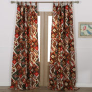 Greenland Home Fashions Folk Festival 2-Pack Rod-Pocket/Tab-Top Curtain Panels