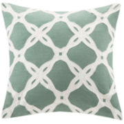 Harbor House Arabesque Aqua Square Decorative Pillow