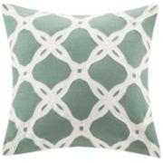 Harbor House Arabesque Aqua Square Decorative Pillow