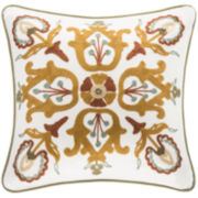 Harbor House Arabesque Ivory Square Decorative Pillow