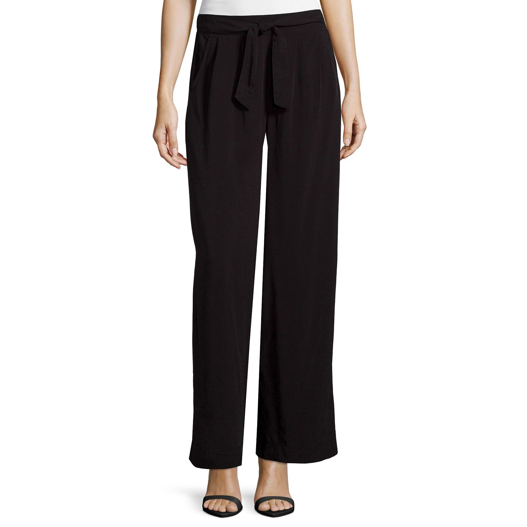 a.n.a Sash-Front Wide-Leg Pants plus size,  plus size fashion plus size appare
