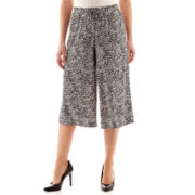 Worthington® Drawstring Gaucho Cropped Pants - Tall