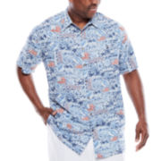 The Foundry Supply Co.™ Printed Rayon Shirt - Big & Tall