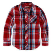 Arizona Long-Sleeve Plaid Camp Shirt - Preschool Boys 4-7