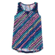 Arizona Lace Inset Tank Top – Girls 7-16