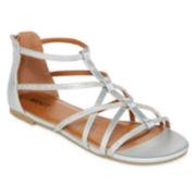 Mixit™ Rhinestone Gladiator Strap Sandals