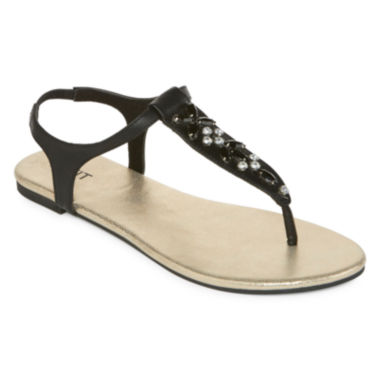 jcpenney.com | Mixit™ Jewel Embellished T-Strap Sandals