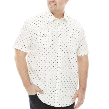 jcpenney.com | The Foundry Big & Tall Supply Co.™ Short-Sleeve Vintage Woven Cotton Shirt