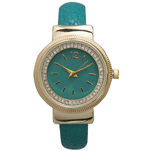 Olivia Pratt Womens Blue Bangle Watch-15364