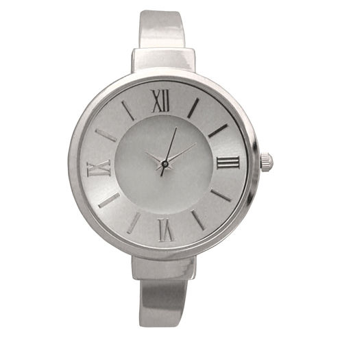 Olivia Pratt Womens Silver Tone Bangle Watch-10029
