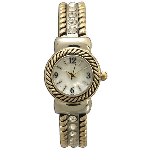 Olivia Pratt Womens Two Tone Bangle Watch-10034