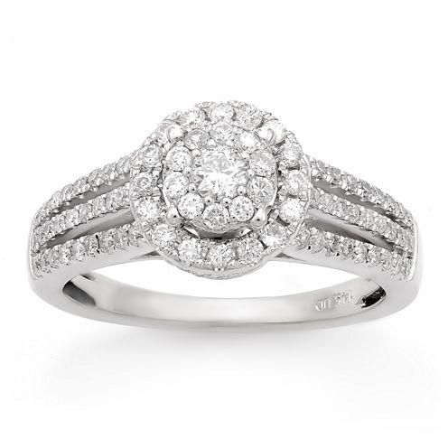 Limited Quantites Womens 3/4 CT. T.W. Genuine Round White Diamond 14K Gold Engagement Ring