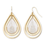 Mixit™ Threaded Double-Teardrop Earrings
