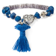 Aris by Treska Beaded Tassel Stretch Bracelet