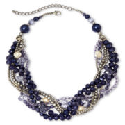 Aris by Treska Multi-Row Braided Beaded Necklace