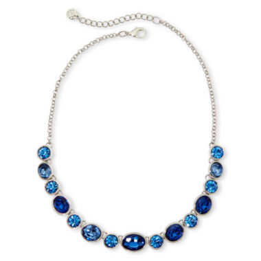 jcpenney.com | Monet® Silver-Tone Blue Stones Collar Necklace