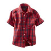 OshKosh B'gosh® Short-Sleeve Plaid Poplin Shirt - Boys 5-7
