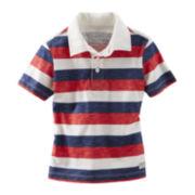 OshKosh B'gosh® Short-Sleeve Striped Polo Shirt - Boys 5-7