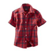 OshKosh B'gosh® Short-Sleeve Slub Woven Shirt - Boys 2t-4t