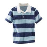 OshKosh B'gosh® Short-Sleeve Striped Polo Shirt - Boys 2t-4t