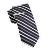 JF J. Ferrar® Peppers Stripe Slim Tie