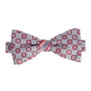 Stafford® Boo Stripe Pre-Tied Contrast Knot Bow Tie